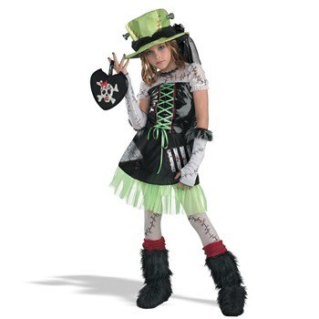 Costumes Size 14-16 (Monster Bride (Green) Child Costume Size X-Large (14-16))