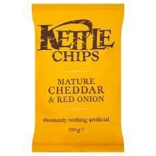 Kettle Chips Kettle Mature Cheddar & Red Onion Crisps 150G