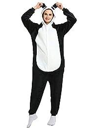 Adult Animal Pajamas Costume,Unisex One Piece Animal Flannel Halloween Jumpsuits