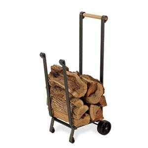 Pilgrim Home and Hearth 18525 Forged Iron Wood Cart by Pilgrim Home and Hearth