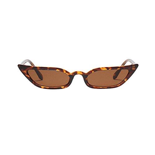 Alloy Frame Eyeglass (Forthery Cat Eye Sunglasses Goggles Vintage Mod Style Retro Small Frame Eyeglasses UV400 (Brown))