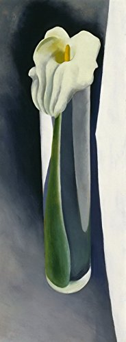 Georgia Okeeffe Calla Lily - Berkin Arts Georgia O'Keeffe Giclee Canvas Print Paintings Poster Reproduction (Calla Lily in Tall)