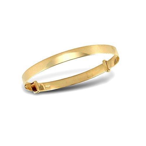 Jewelco Londres 9K bracelet bracelet or diamant coupe 4mm expansion
