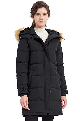 Orolay Vrouwen Geïsoleerde Down Coat Winter Hooded Quilt Jas met Faux Fur