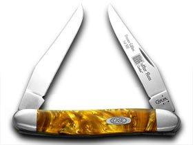 (CASE XX Butter Rum Genuine Corelon 1/500 Muskrat Pocket Knives Knife)