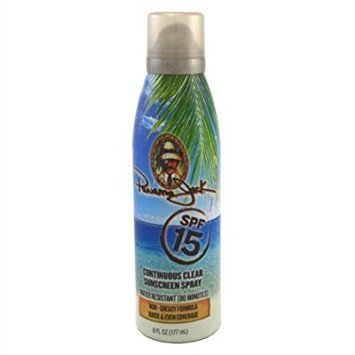 Panama Jack Continuous Spf#15 Clear Sunscreen Spray 6 Ounce (177ml) (3 Pack)