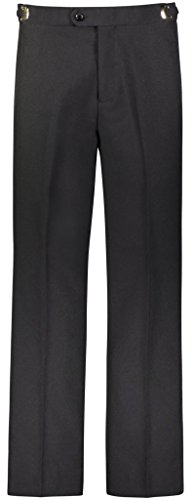 RGM Men's Tuxedo Pants Flat Front with Side Satin Stripe Black 28W x ()