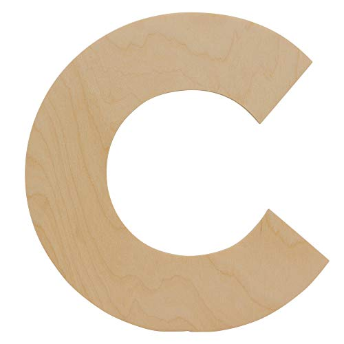 Wooden Letters - C - Unfinished 12