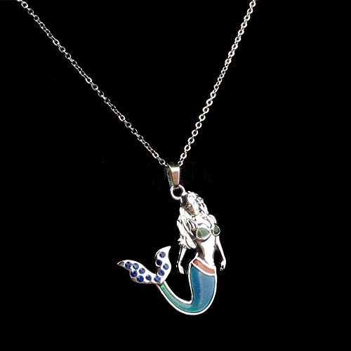 Kitana Katz Mermaid Mood Necklace, Thermal Color Changing Necklace, Changes Color Based on Your Emotions]()