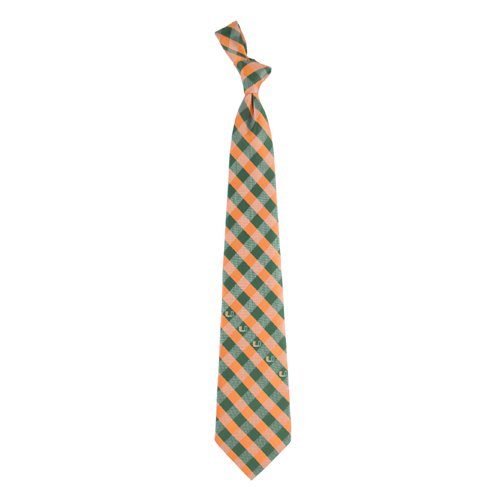 Miami Check Poly Necktie