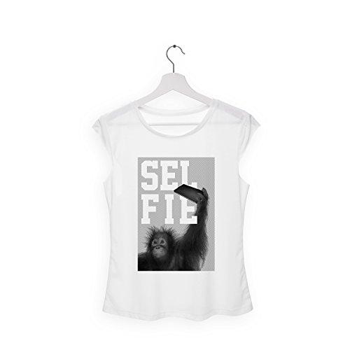 TRVPPY Damen T-Shirt Tank-Top / Modell SELFIE MONKEY / Sommer Fashion Hipster Strand Mode Top