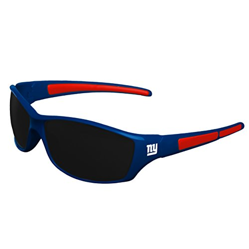 FOCO NFL New York Giants Athletic Wrap Sunglassesteam Logo Athletic Wrap Sport Sunglasses, Team Color, One Size
