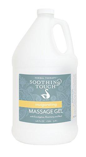 Soothing Touch Invigorating Massage Gel, Eucalyptus/Rosemary/Lemon/Basil, 128 Ounce (Invigorating Gel)