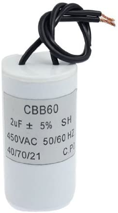 DealMux Cbb60 12Uf Wire Lead Cylinder Motor Running Capacitor AC 450V