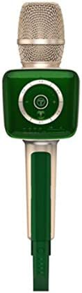Qiaoxianpo01 カラオケ、携帯電話のKソングスーパー小麦、ワイヤレス接続オーディオマイク内蔵マイク 。 音がきれいです。 (Color : Green)