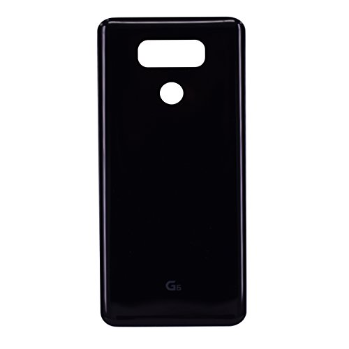Dogxiong Black Back Rear Housing Battery Genuine Glass Door Cover Case Replacement for LG G6 H870, LS993, H872, H871, VS988