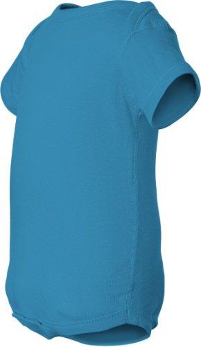 Rabbit Skins Infant Baby Rib Lap Shoulder Bodysuit (Turquoise) (6)