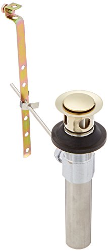 (Delta Faucet RP26533PB Metal Drain Assembly with Less Lift Rod and Knob for Bathroom, Polished Brass)