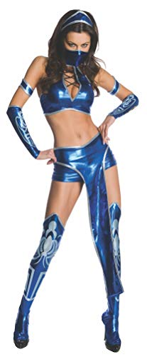 Secret Wishes Womens Kitana Mortal Kombat Costume, Blue, Medium -