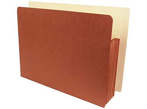 AMZfiling Heavy Duty End Tab Expanding File Pocket Folders- Letter Size, 6 Inch Expansion, Red Wallet (25 per Carton)