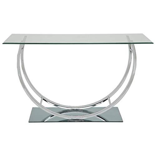 Coaster U-shaped Sofa Table Chrome (And Mirror Console Sets Table)