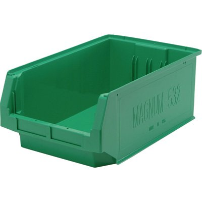 Quantum Storage Magnum Bin - 6-Pack, 19 3/4in.L x 12 3/8in.W x 7 7/8in.H, Green, Model# QMS532GN-Z