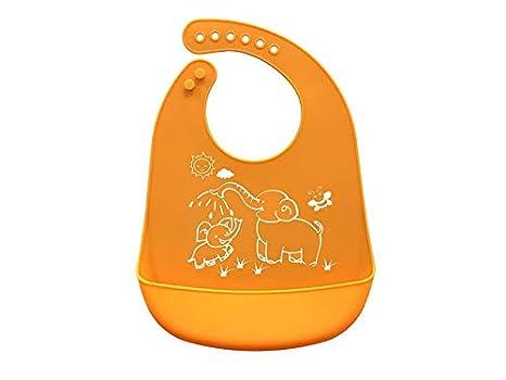 Delantal para niños pequeños Babero de silicona para bebés Toddler Toalla de saliva para bebés Babero ...