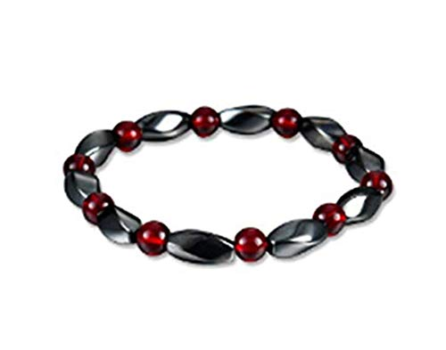 CARDEON Magnetic Bracelet Stylish Classic Round Beads Bracelet Unique Polished Twist Bangle