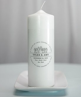 Personalized Family Crest Wedding Unity Ceremony Candle W7207 Quantity of 1