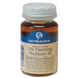 (Grumbacher Rapid-Dry Medium III for Oil Paintings, 2-1/2 Jar, #5772)