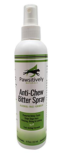 (Pawsitively Naturals Premium Anti Chew Spray - All Natural No Chew Bitter Spray and Pet Deterrent for Dogs and Cats – Safe Alcohol Free Repellent Formula to Stop Chewing, Licking, and Biting -(8oz.))