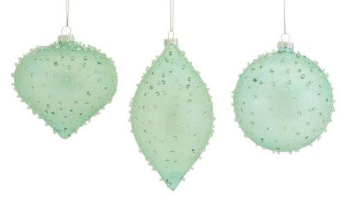 mint green glass christmas ornamentscheck price mint green and silvercheck price shiny mint - Green Christmas Decorations