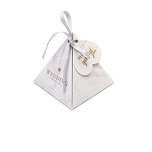 100 Pieces Wedding Creative Triangle Candy Box/Festival Gift Paper Candy Box,B-10.511.5cm ()
