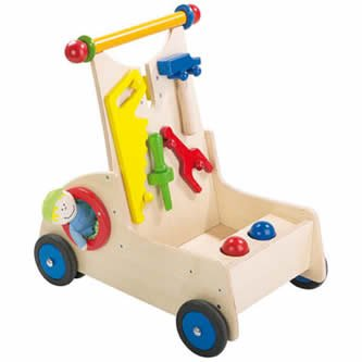 HABA Carpenter Pixie Limited Edition Walker Wagon for 10 Months and Up (Made in Germany) by HABA