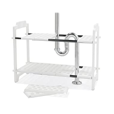 Madesmart 17-1/4 H by 11 W by 18-1/4 L,  18-1/4 to 32-Inch Expandable Under sink Shelf Organizer