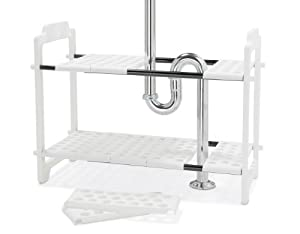 Madesmart 17 1 4 H By 11 W By 18 1 4 L 18 1 4 To 32 Inch Expandable Under Sink Shelf Organizer