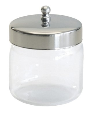 Unlabeled Dressing Jars with Covers. Measured Height x Diameter - Pyrex, 3'' x 3'', 12/cs