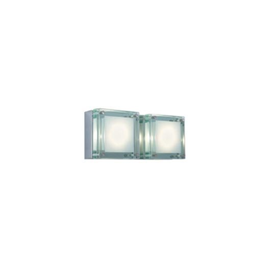 Jesco Lighting WS306L-2GL 2 - Light Wall Sconce Quattro Low Voltage - Series 306 by Jesco Lighting Group B0071BLTLA Chrome / Glass