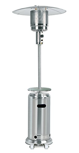 AZ Patio Tall Stainless Steel Propane Patio Heater With Tabl