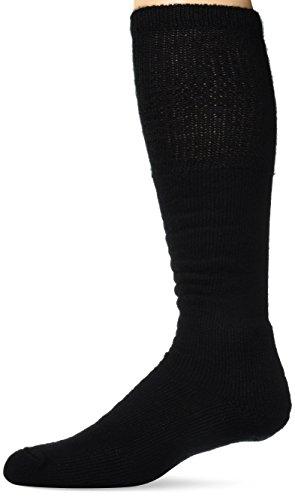 Thorlos Unisex WBO Work Thick Padded Over the Calf Sock, Black, Medium (High Socks Knee River Fox)