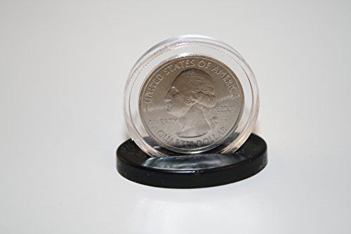 Single Coin DISPLAY STANDS for Half Dollar or Quarter Capsules (Quantity: 25) (Single Coin Quarter Display)