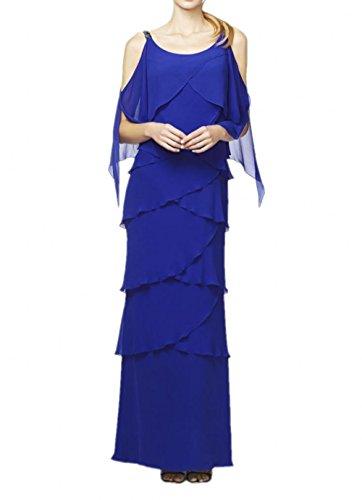 Ballkleider Royal mit Abendkleider Marie Braut Traeger Royal La Blau Blau Chiffon Herrlich Brautmutterkleider Zwei 70xxzn