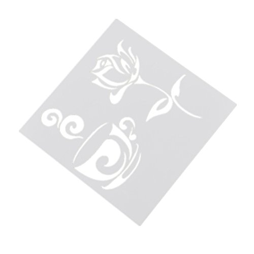 Coffee Rose Painting Stencil Natural Theme Drawing Masking Templates DIY Décor - Roses Template