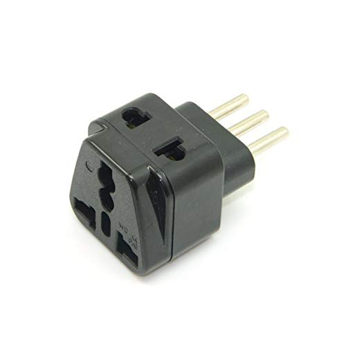 - Connectors 100pcs / Lots USA UK AU Europe to Italy Grounded 3 pin Universal Travel Splitter Adapter AC Italian Uruguay Power Plug, by DHL - (Cable Length: Other)