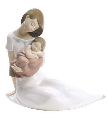Light of my Days (Special Edition) Mother with baby GIRL - Nao by Lladro Porcelain Figurine by Lladro