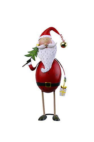 Red Carpet Santa Christmas Figurine
