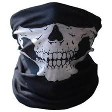 Skeleton Face Mask, Bandana, Face Protection, Multifunctional, Seamless, Tube Mask, Thin, Lightweight, Perfect For Skiing, Snowboarding, Motorcycling, Paintball, Yard Work, Costume Dress Up, & (Good Last Second Halloween Costumes)