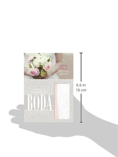 RVR 1960 Biblia Recuerdo de Boda, filigrana blanca/rosa palo símil piel (Spanish Edition): B&H Español Editorial Staff: 9781433619496: Amazon.com: Books