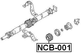 375216P026 Center Bearing Support For Nissan