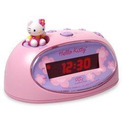 hello kitty digital alarm clock and mini fm radio toys games. Black Bedroom Furniture Sets. Home Design Ideas